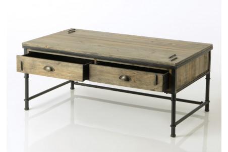 Table Basse En Bois Et Metal Agar Hellin