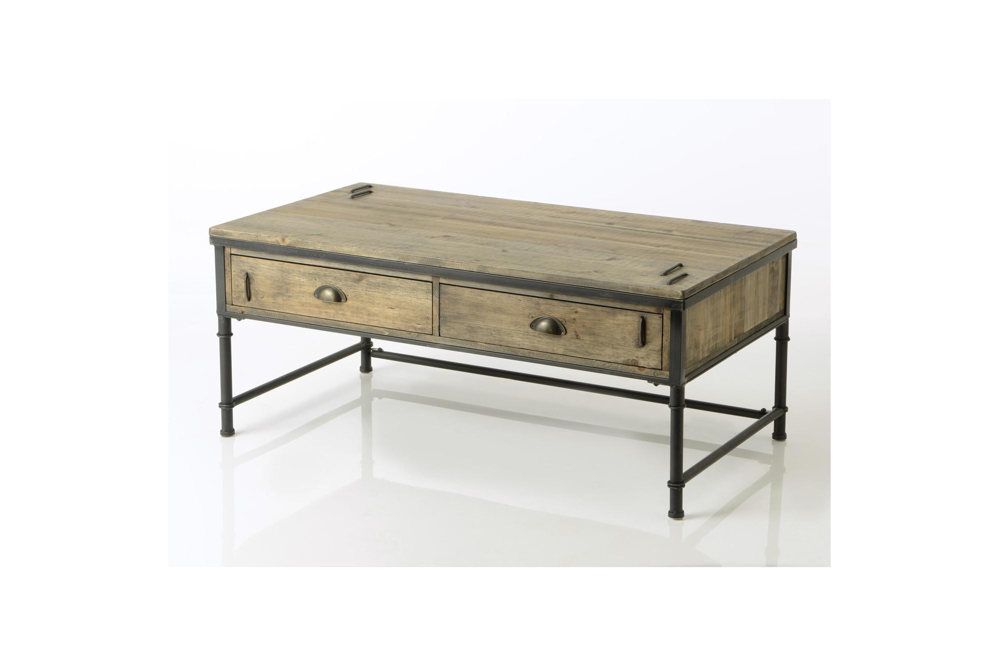 Nouveaux produits d0019 4dbcb Table basse en bois et métal Agar - Hellin