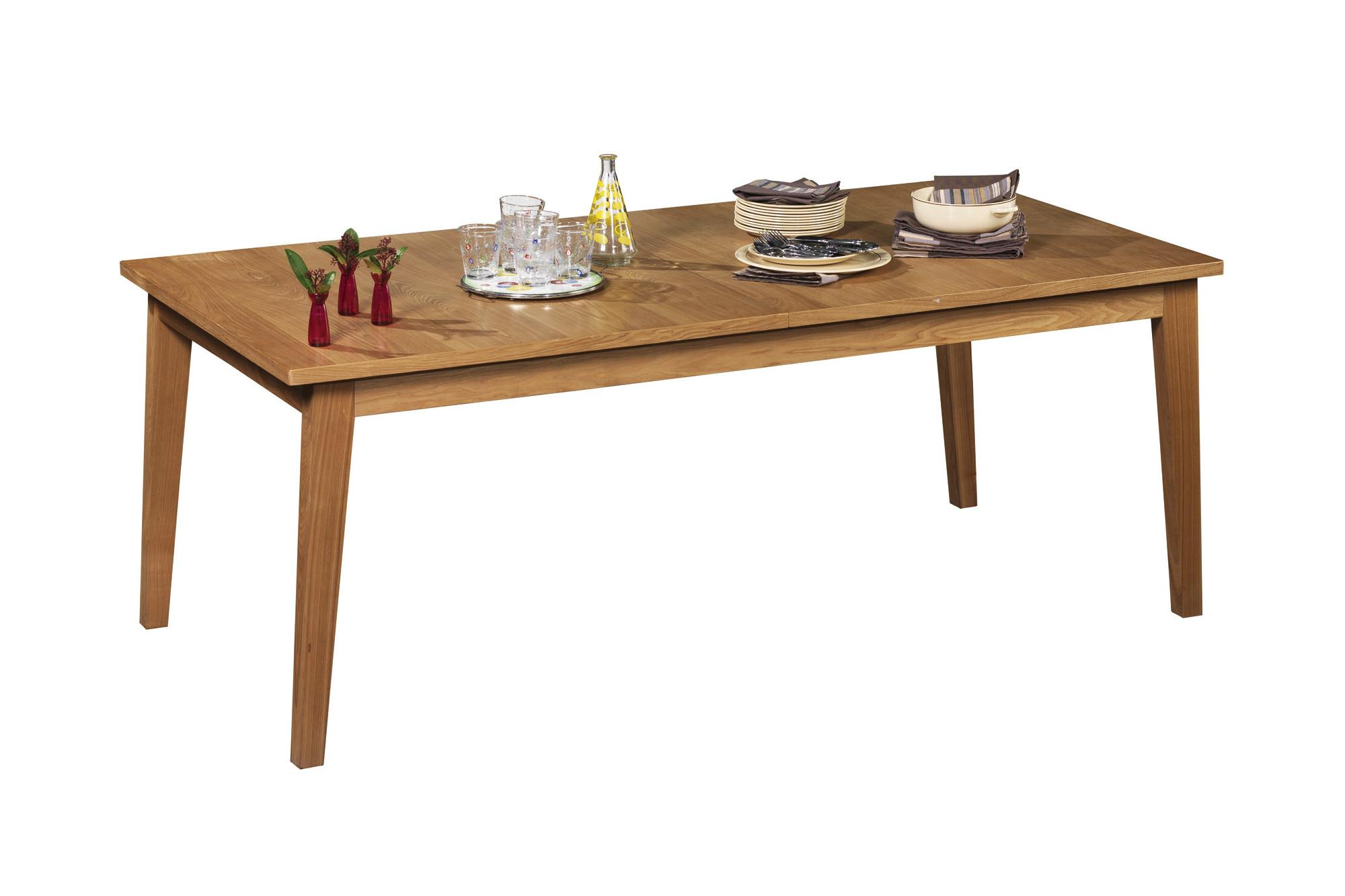 Table extensible vintage en bois massif fifteen hellin - Table en palissandre massif ...