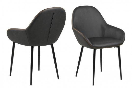 Lot de 2 fauteuils simili cuir GLADIS