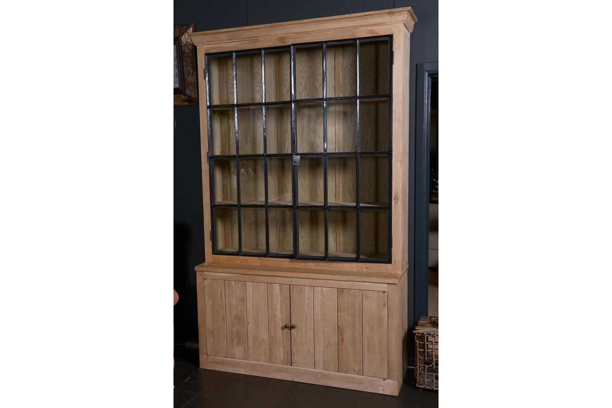 vaisselier et buffet en bois et m tal louise style indus. Black Bedroom Furniture Sets. Home Design Ideas