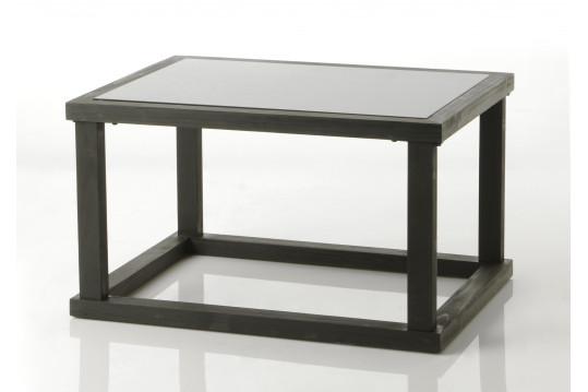 Table basse en bois de sapin noir