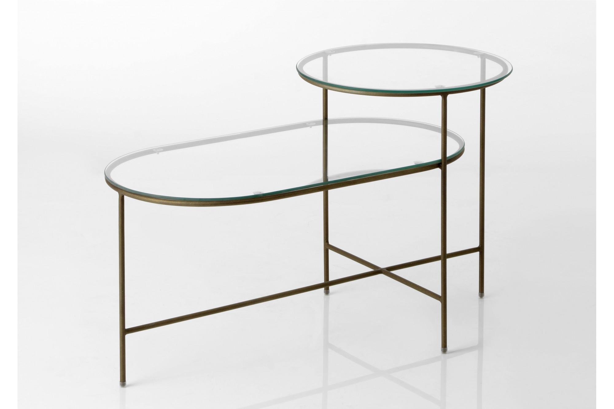 table basse design m tal et verre hellin. Black Bedroom Furniture Sets. Home Design Ideas