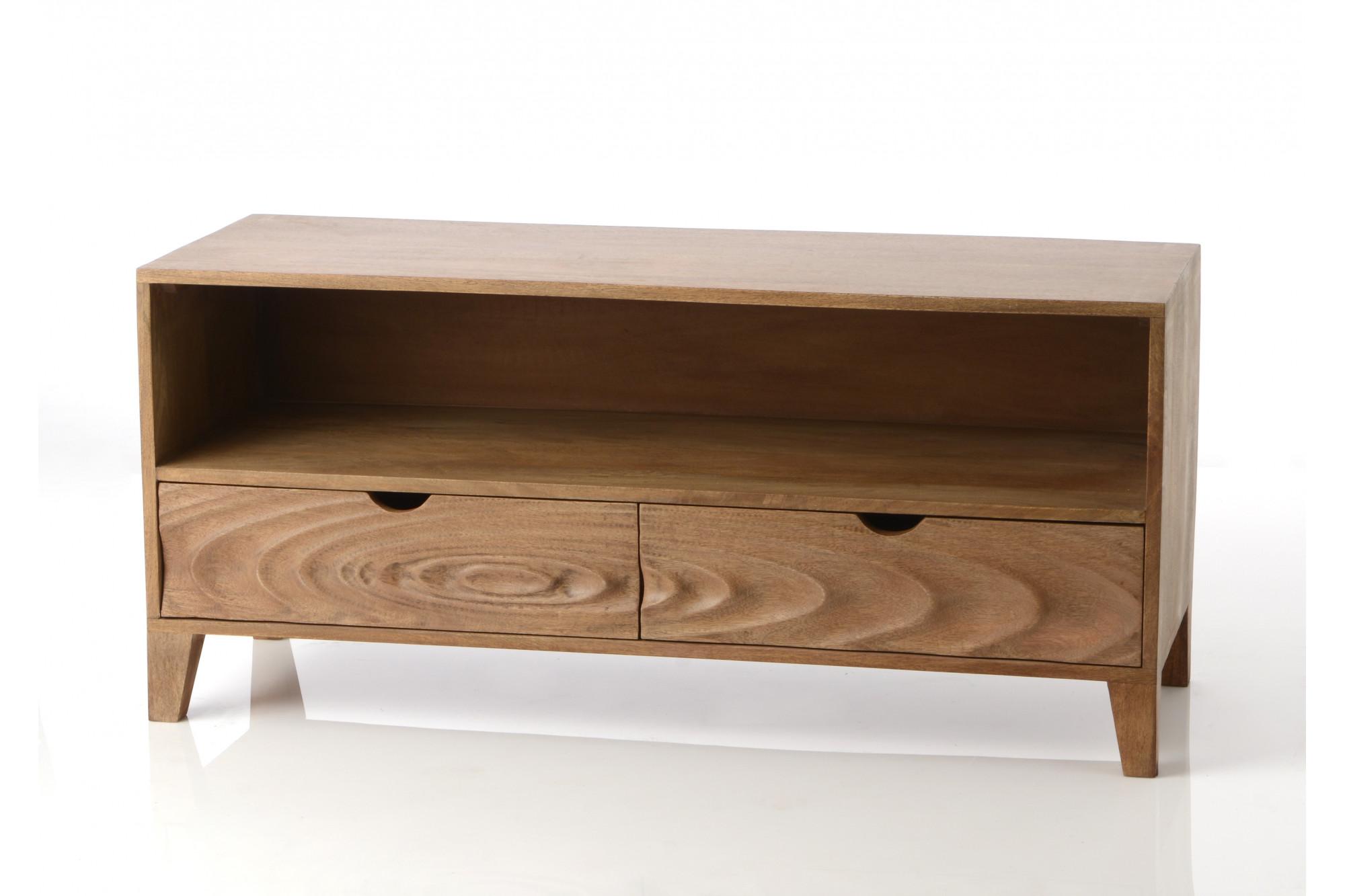 meuble tv en bois naturel myst re hellin. Black Bedroom Furniture Sets. Home Design Ideas