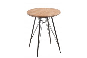TABLE RONDE BOIS ET MÉTAL BISTRO