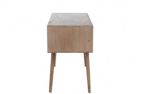 Bureau tiroirs en bois naturel