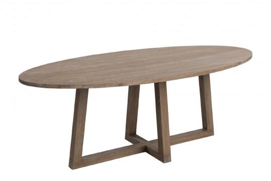 TABLE A MANGER OVALE BOIS MOKA 220 CM