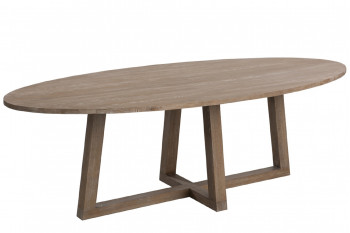 TABLE OVALE BOIS MOKA 280 CM
