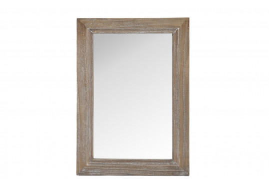 Miroir en bois vieilli 40 x 60 cm