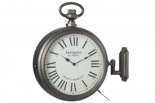 Horloge murale avec contour à leds