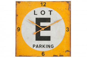 Horloge carrée industrielle