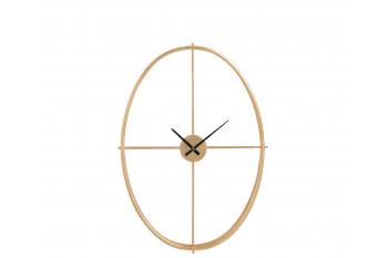 Horloge ovale dorée