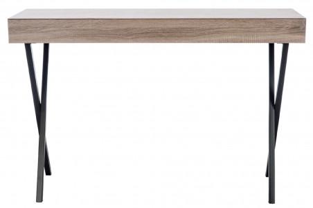 Bureau moderne bois métal 2 tiroirs