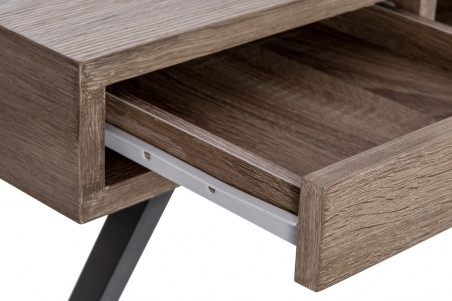 Bureau moderne bois métal tiroirs
