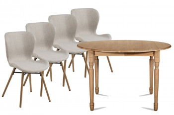Table Victoria 115 cm + 4 chaises Matilda