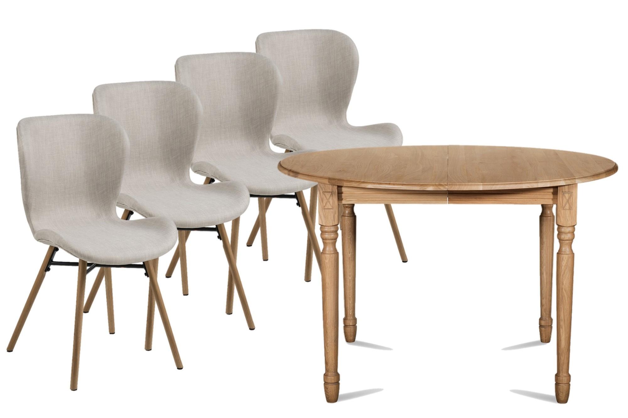 Table Ronde Et Chaises.Ensemble Table Ronde Chaises Matilda Hellin