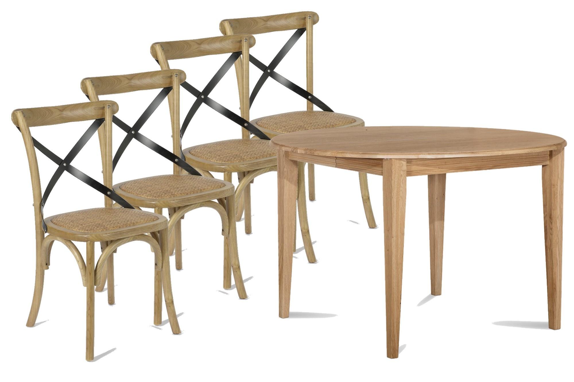 Table Ronde Et Chaises.Ensemble Table Ronde Victoria Avec Nos 4 Chaises Bistrot Hellin