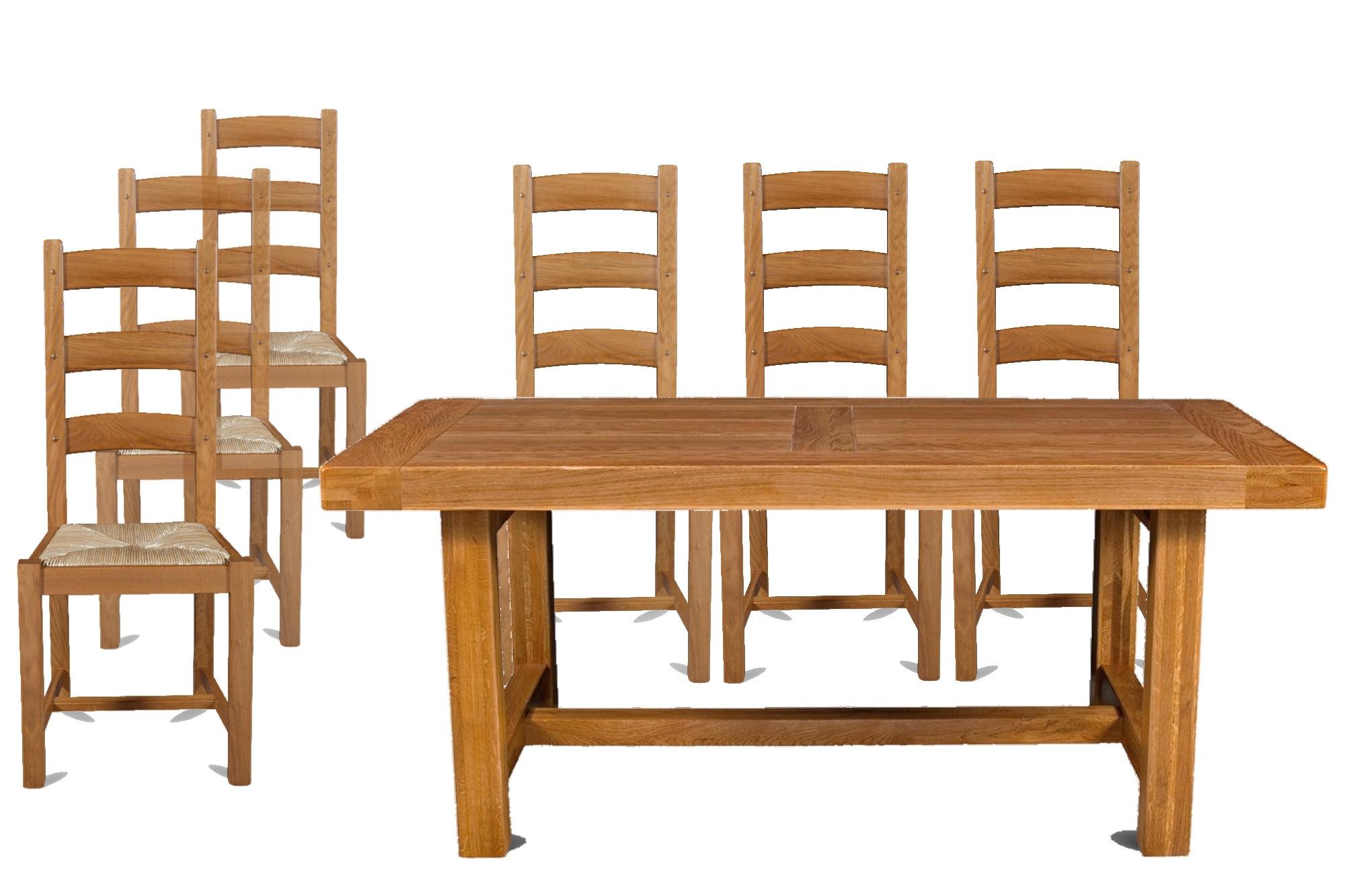 Table De Salle A Manger En Chene Et 6 Chaises La Bresse Hellin