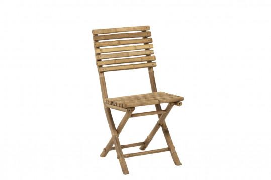 Lot de 2 chaises de jardin en bambou