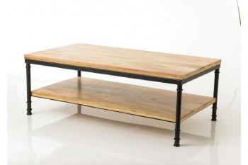 TABLE BASSE EN BOIS ET MÉTAL - AUGUSTIN