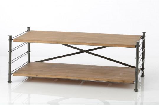 Table basse modulable en bois métal 2 tiroirs - Alane