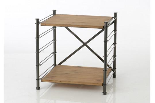 Bout de canapé modulable en bois métal - Alane