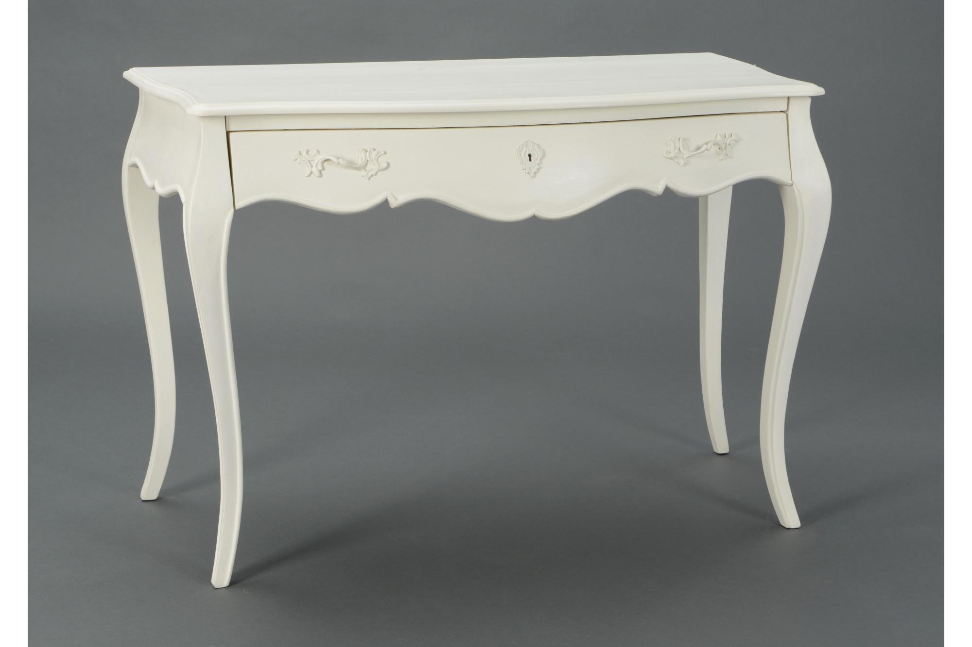 Joli bureau blanc en bois à tiroir hellin