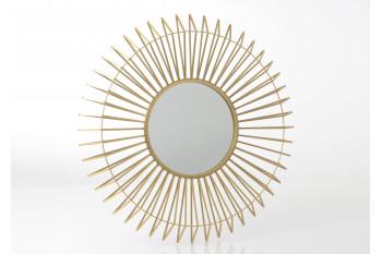 Miroir rond en métal - SUN