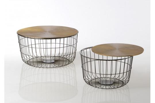 Tables basses panier en métal - SWAN