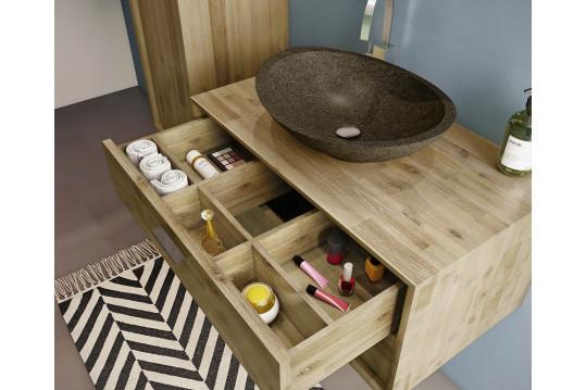 Meuble de salle de bain sous vasque en bois 80 - FUJI