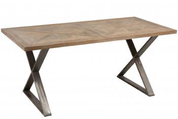 TABLE RECTANGULAIRE BOIS ET MÉTAL KORSA