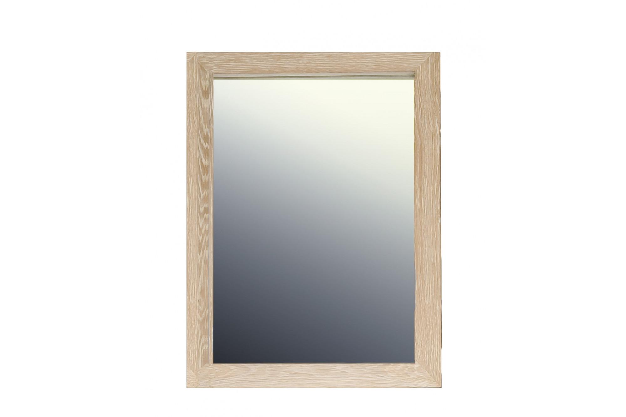 Hauteur Armoire De Toilette armoire de toilette en bois massif avec miroir - chêne blanchi - hellin