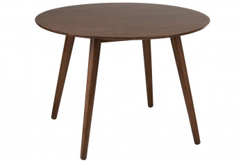 Table ronde en bois - SEVENTIES