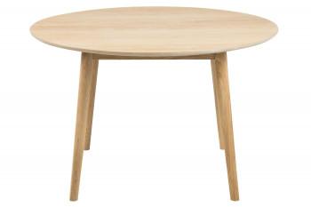 Table ronde en bois clair NOGANA