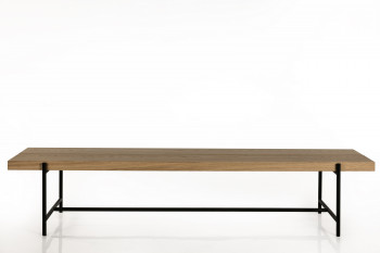 TABLE BASSE MODERNE EN BOIS ET METAL - BRIGHTON