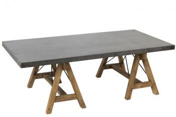 Table basse bois naturel et métal - ESCAPE