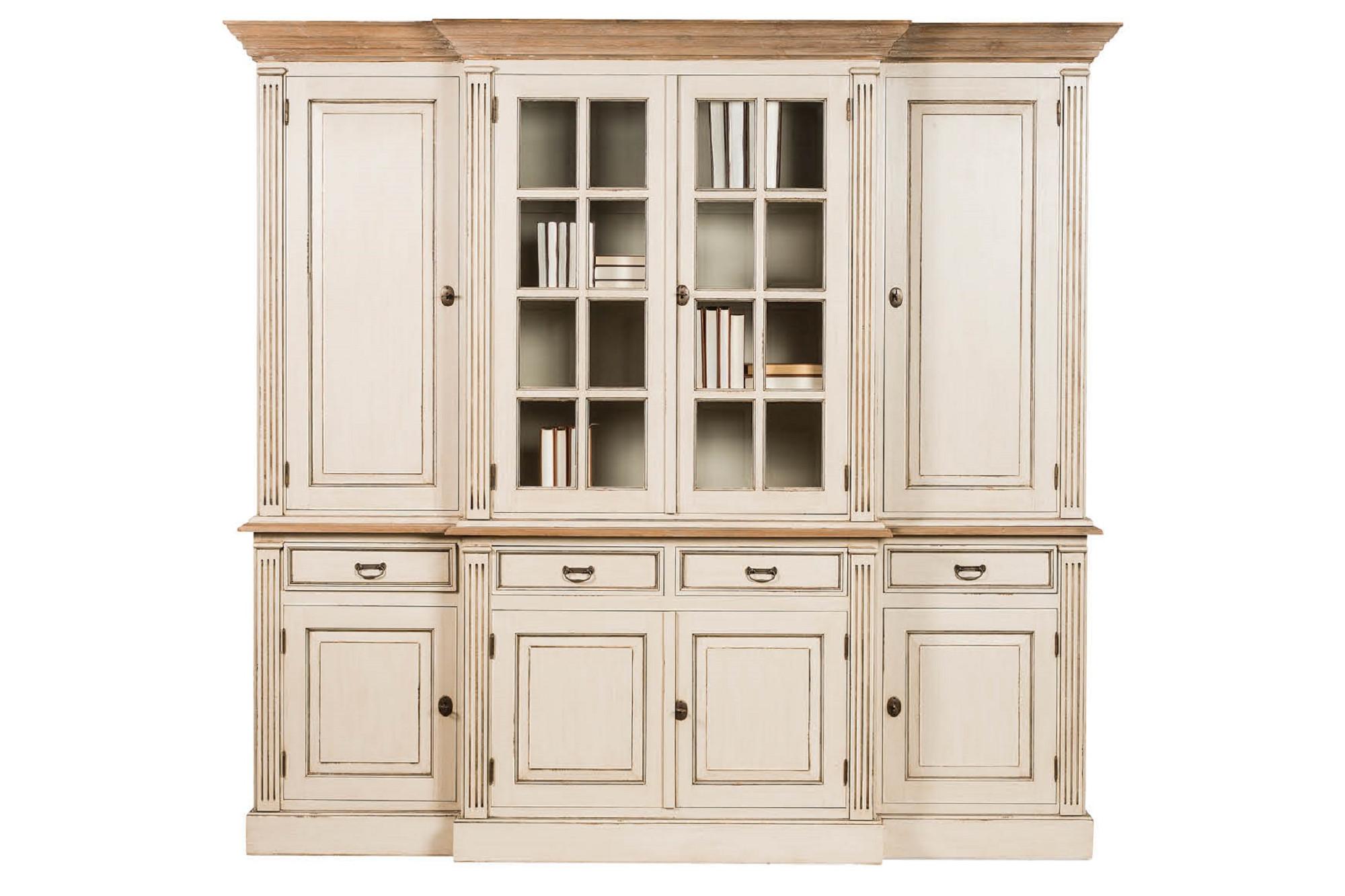 Porte De Chambre Avec Vitre vaisselier en bois avec nombreux rangements et vitres - hellin