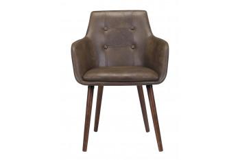 Chaises en tissus et pieds bois laqué  (Lot de 2) - DURBAN