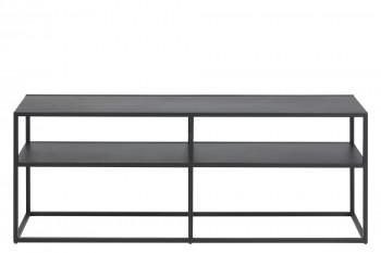 Meuble TV en métal noir - Newton