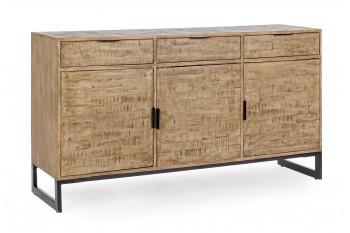 Buffet bois et métal 3 portes - 3 tiroirs ARDEN