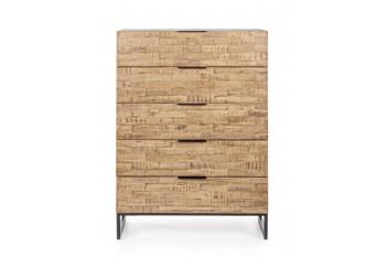 Commode 5 tiroirs en bois et métal - ARDEN