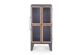 Vitrine 2 portes en bois et métal - REDOR