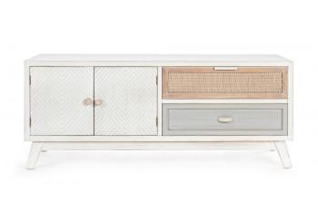 Meuble TV en bois 2 portes -2 tiroirs BAYA