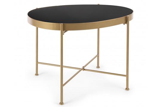 Table de salon en verre et métal - ORIENT