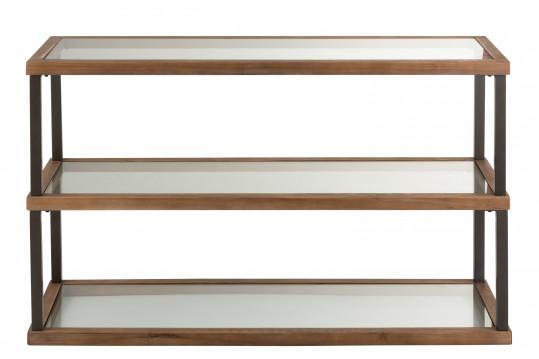 Console en bois et métal au style industriel