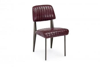 Chaise simili cuir et métal  Vintage - CLARK