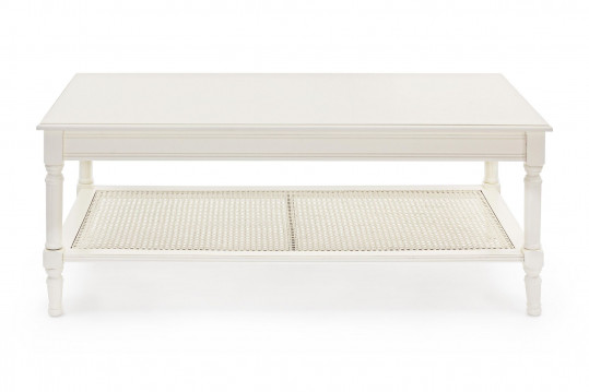 Table basse en bois et rotin - ANABEL