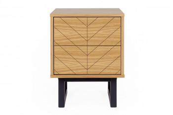 Table de nuit carrée en bois - KALMAR