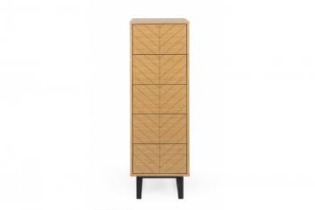 Chiffonnier en bois 5 tiroirs - KALMAR