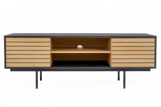 Meuble TV moderne en bois et métal - SAULAND